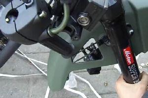 银钢mini摩托车拆箱安装流程1