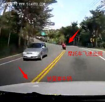 凶险!看看摩托弯道超车的结果