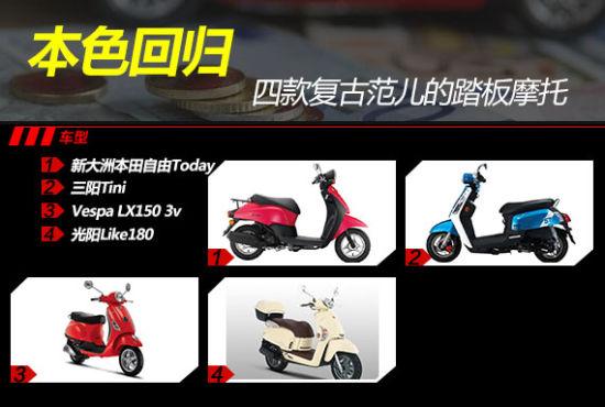 本色回归:四款复古范儿的踏板摩托车