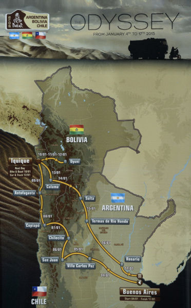 2015年达喀尔拉力赛赛段介绍魔鬼赛段长781公里