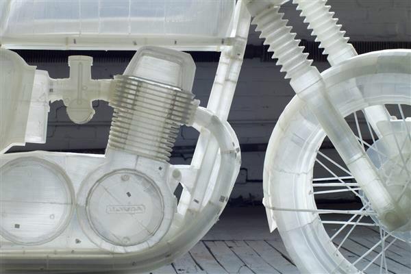 超乎想象桌面3D打印机完美复制摩托车