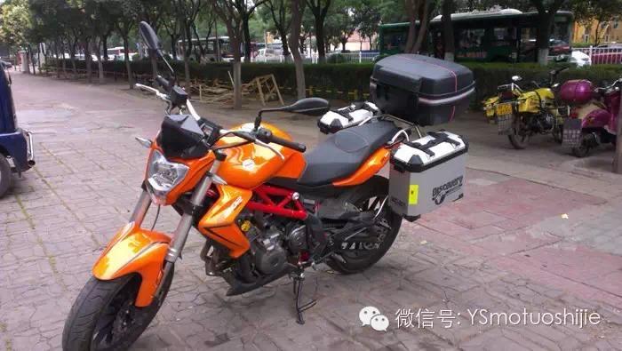 蓝宝龙BJ300GS摩托车边箱改装实例