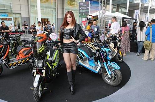 泰国曼谷摩托车展机车美女