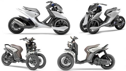 雅马哈推两款三轮摩托车一款超前一款复古