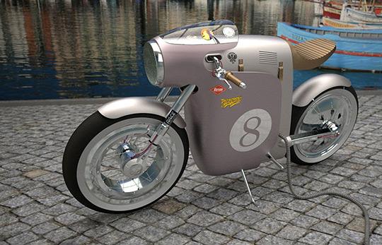 经典摩托车元素Monocasco电动自行车