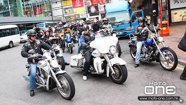 香港车友为车手占宝举办摩托追悼游