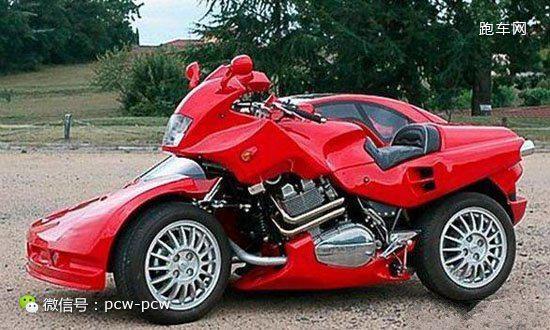 真心跪了!法拉利造型偏斗三轮摩托