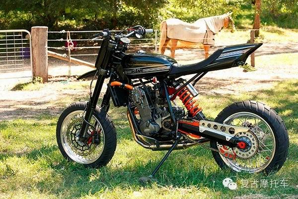 难得一见的KTM复古摩托车