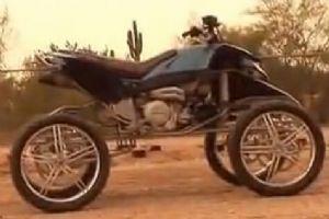 太强悍了!超酷的改装四轮摩托车