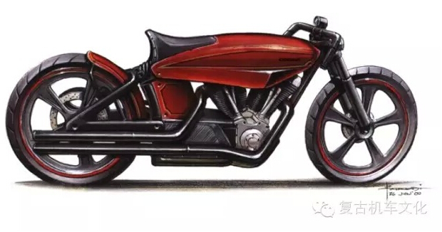 复古改装HarleyDavidsonSoftail欣赏