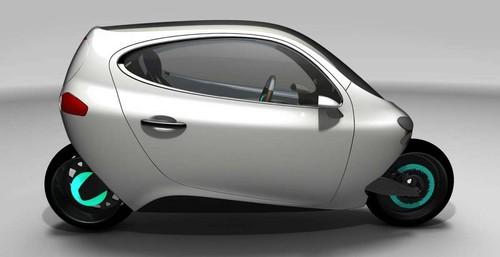 LitMotorsC1:能站立的环保电动摩托车