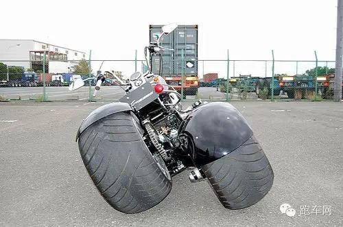 一键变两轮日本KSG改装哈雷三轮摩托车