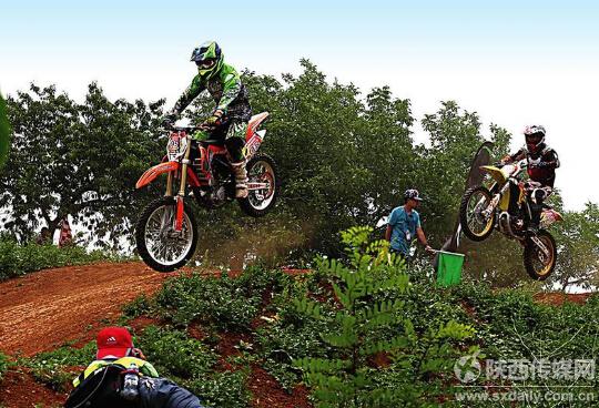 """2015""""航翔杯""""陕西省越野摩托车公开赛在西安举行"""