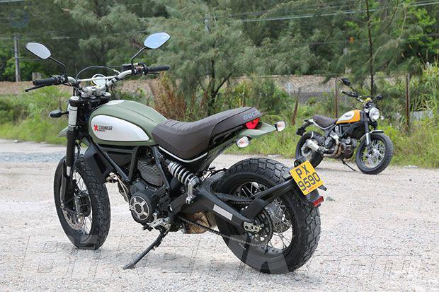 DucatiScrambler体验夏日骑乘的乐趣
