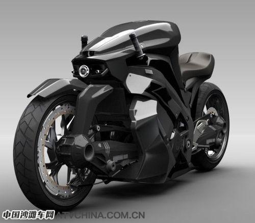 终结者粉丝的概念超级摩托