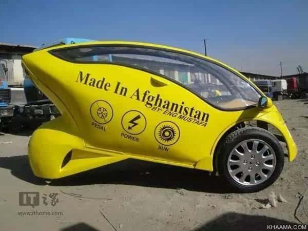 阿富汗青年太励志!独立设计太阳能摩托车