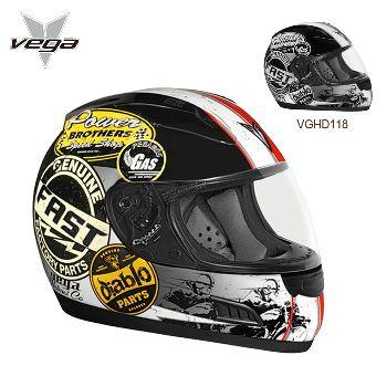 Vega 来自北美洲复古头盔 DOT标准 全盔