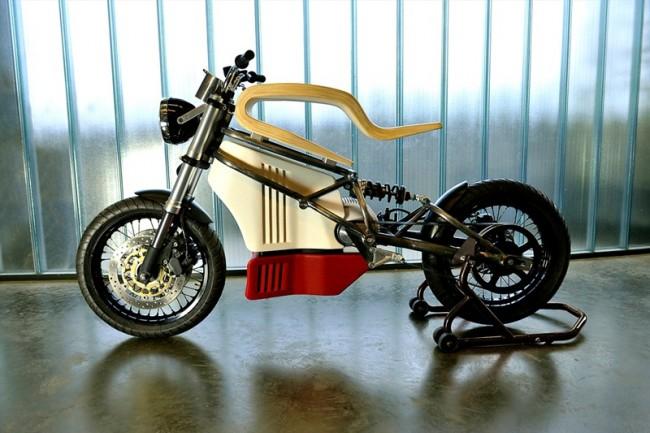 经典与未来并存:E-Raw概念摩托车