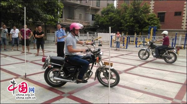 晋江交警大队开展摩托车驾驶证培训下乡活动