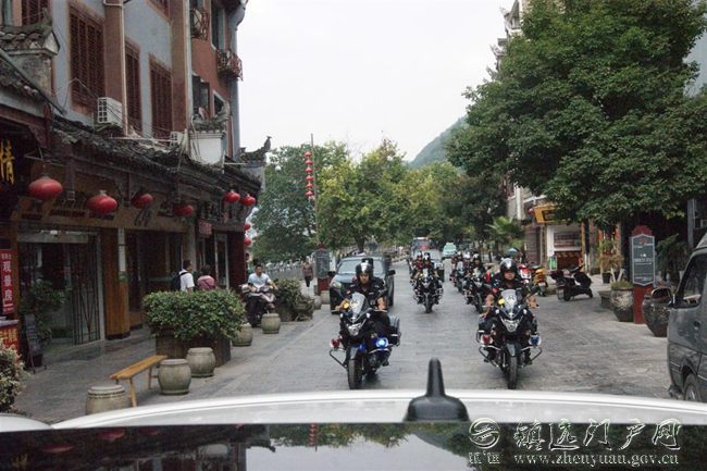镇远县公安局举行警用巡逻摩托车发放仪式