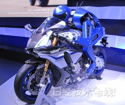 雅马哈人形机器人MOTOBOT能直线驾驶摩托车