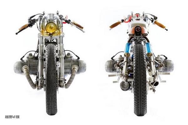 经典传奇外国车友改装BMWR100摩托