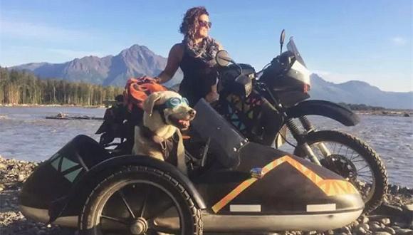 敢独自骑摩托带狗旅行6000公里的才是女汉子