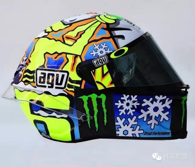 �_西��MotoGP冬�y�O�新花色AGV�^盔