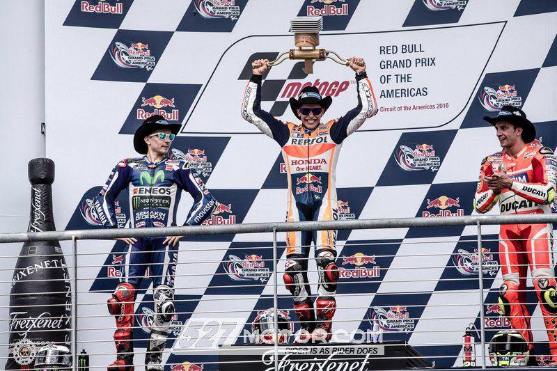 MotoGP:MarcMarquez美国站夺四连冠