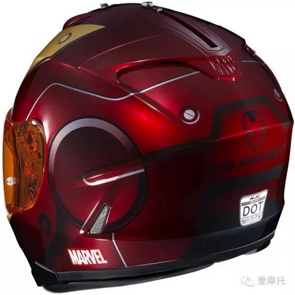 "HJC联合威漫推出""英雄者联盟""的特别版头盔"