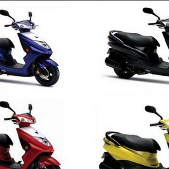 望龙摩托车迅鹰wl-125t-4d踏板车摩托车 望江铃木发动机