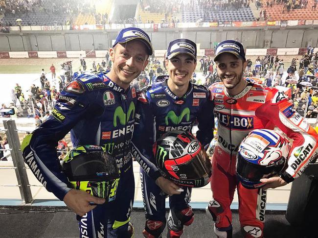 MotoGP卡塔尔揭幕战:雅马哈新人夺冠罗西第3
