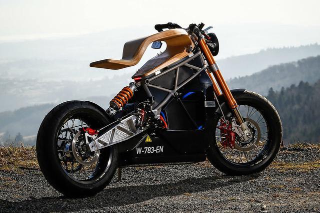 售价6万美元的E-Raw摩托车木质座椅真心帅