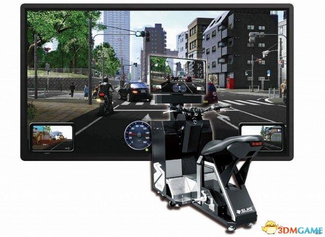 街机老厂新动作 世嘉推出新型模拟摩托车驾驶框体