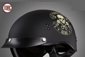 美国TORC摩托车安全头盔半覆式复古机车骑士半盔太子盔夏季男