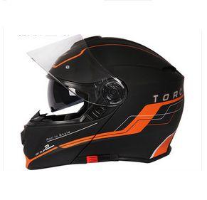 TORC头盔男摩托车双镜片揭面盔防雾全覆式半盔