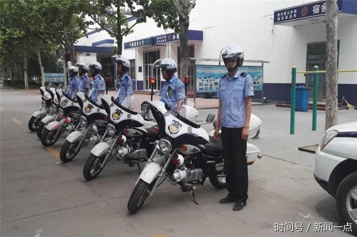 博兴大队警用摩托车整装走起