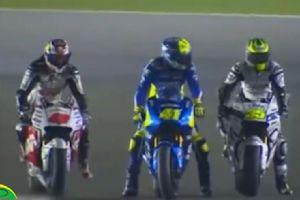 MotoGP�g��r刻,��錾宪�手的逗逼表�F