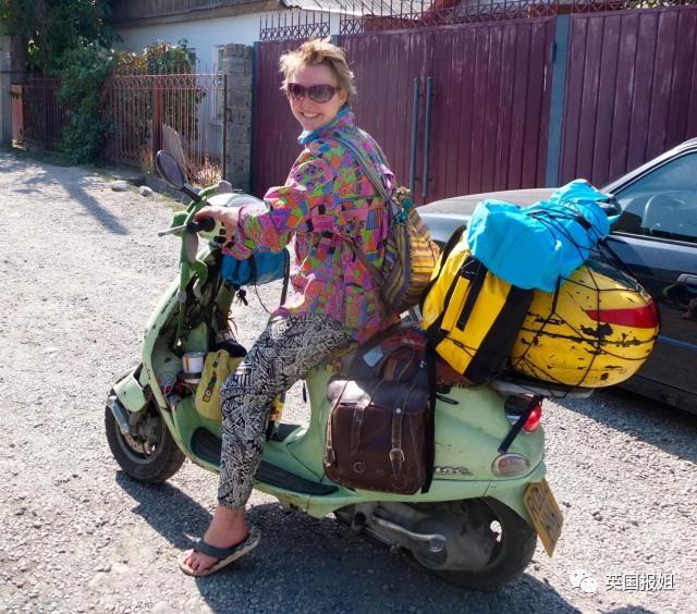 没钱也任性!英国妹子骑一辆破摩托穷游世界