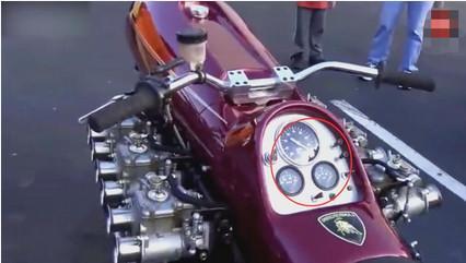 摩托车装上法拉利300万发动机脑洞太超前