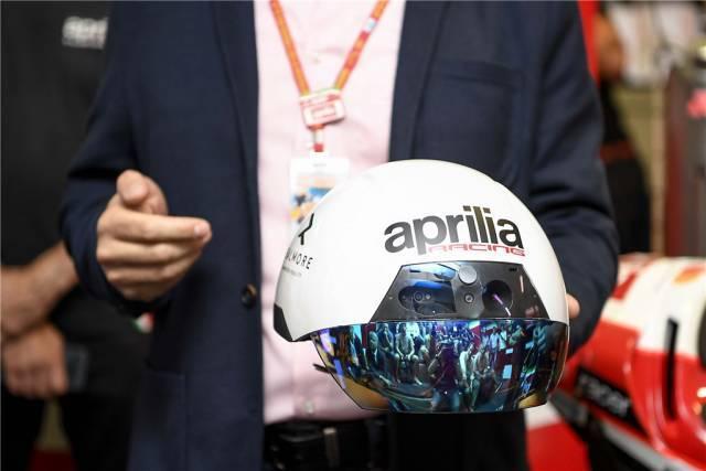 赛场黑科技阿普利亚发表AR实境头盔