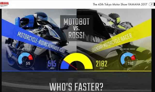 雅马哈骑行机器人vs罗西,谁更快?