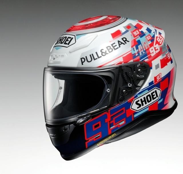 SHOEI推出马奎兹限量版画头盔