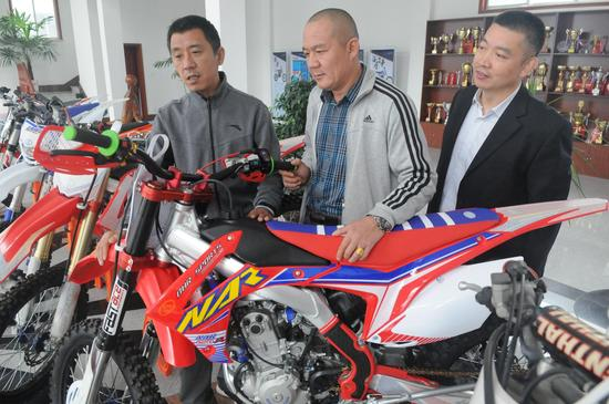 山东淄博产体育用摩托车国际赛场争雄