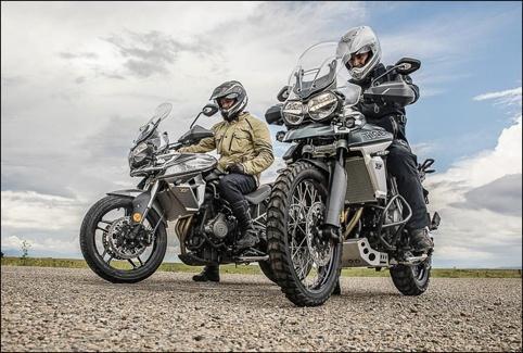 凯旋新款Tiger探险摩托车高科技配置齐全