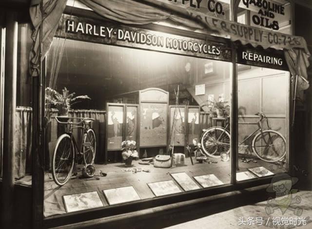 一些早期哈雷戴维森专卖店的老照片