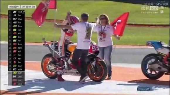 2017MotoGP马奎斯夺得总冠军