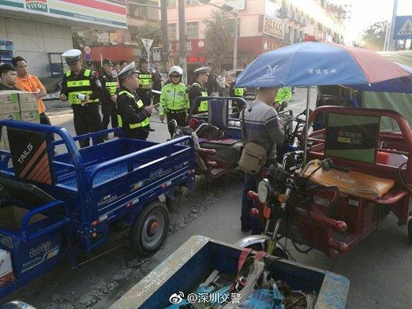深圳严查摩托车和电动三轮中小快递公司受影响严重
