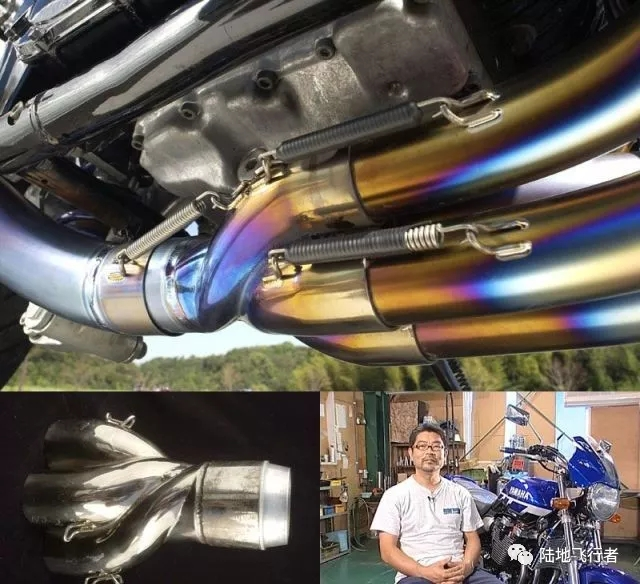 野岛推出川崎Z900RS专用螺旋曲线排气管