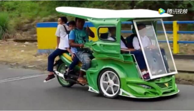 泰国拉风的摩托载人车,这改装有创意!